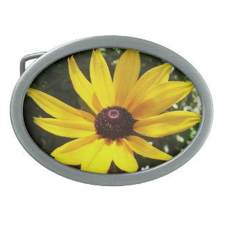 Yellow Daisy Oval Belt Buckle