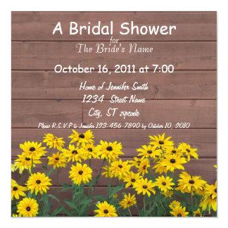 yellow daisy bridal shower invitations