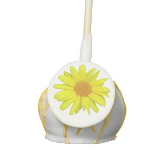 Yellow Daisy Cake Pops