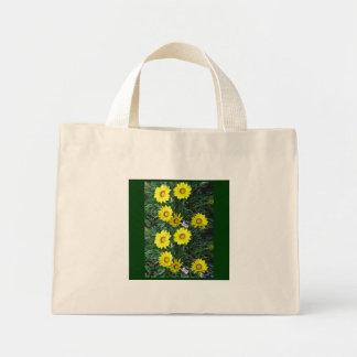 Yellow Daisy Canvas Mini Tote Bag