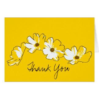 Yellow Daisy Chain Thank You Card