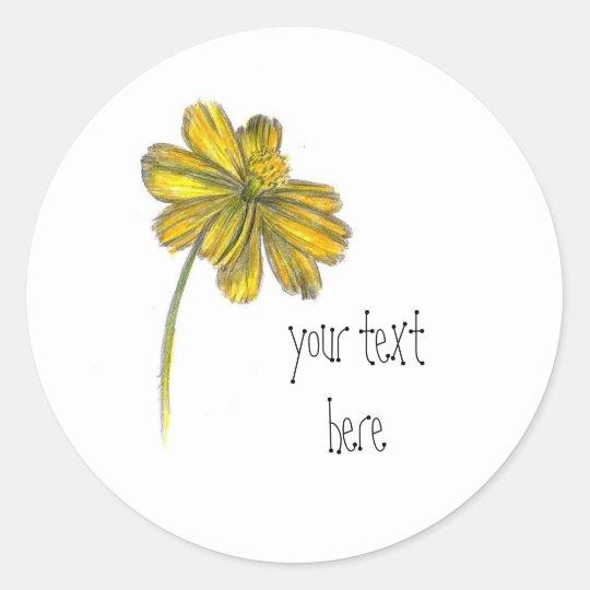 Yellow Daisy Coreopsis Wildflower Custom Name Classic