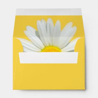 Yellow Daisy Customizable Wedding Envelopes