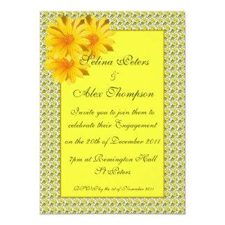 Yellow Daisy Engagement Invitation