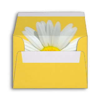 Yellow Daisy Envelope w/ Pre-Printed Address