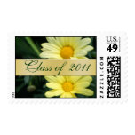 Yellow Daisy Floral Class of  Graduation Postage