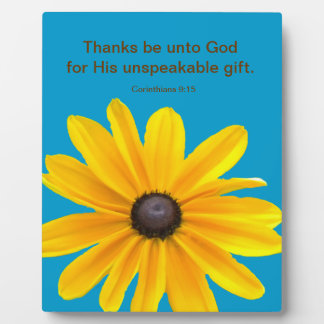 Yellow  Daisy Flower Bible Quote Plaque