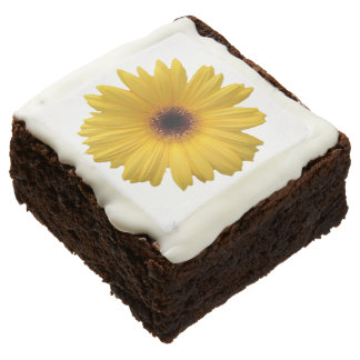Yellow Daisy Flower Brownies