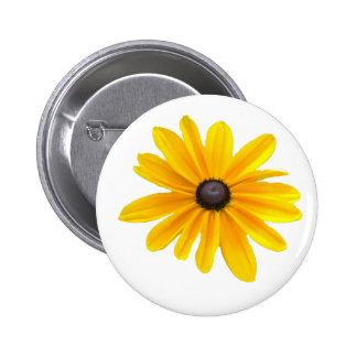 Yellow  Daisy Flower Design Pinback Buttons