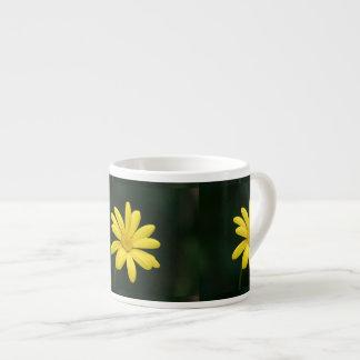 Yellow Daisy flower Espresso Cup