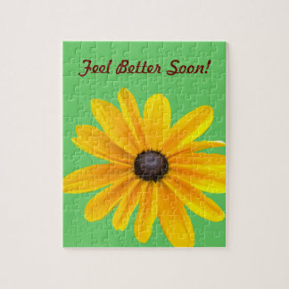 Yellow  Daisy Flower Get Well Puzzle