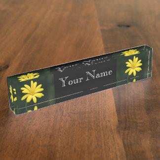 Yellow Daisy flower Nameplates