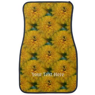 Yellow Daisy Flower Nature Personalized Car Mat