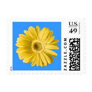 Yellow Daisy Flower Postage