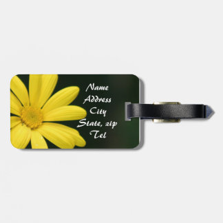 Yellow Daisy flower Tag For Bags