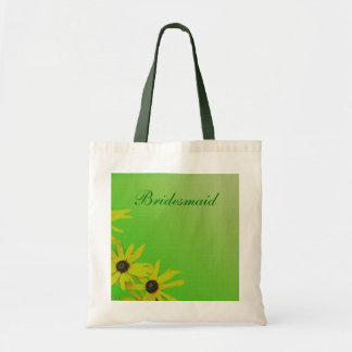 yellow daisy flower wedding bag