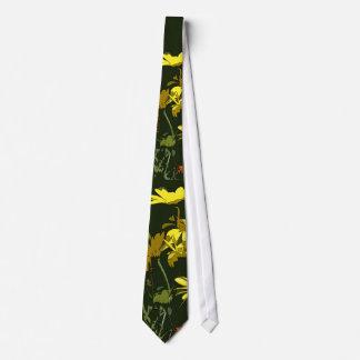 Yellow Daisy Flowers Art Tie