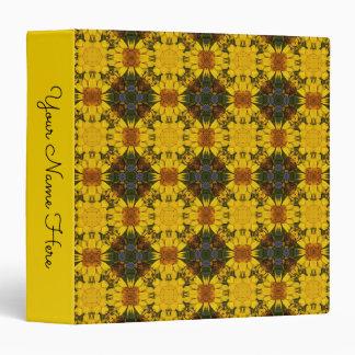 Yellow Daisy Flowers Pattern 2 Binder
