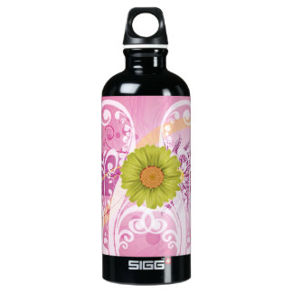 Yellow Daisy Flowers Pictures Design Water Bottle
