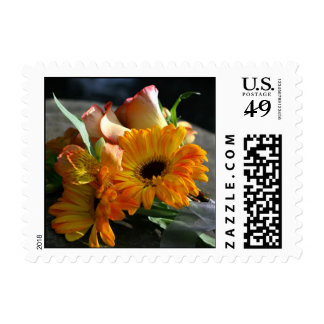 Yellow Daisy Flowers Postage Stamp