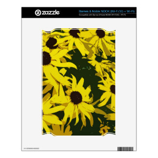 Yellow daisy flowers skin for NOOK