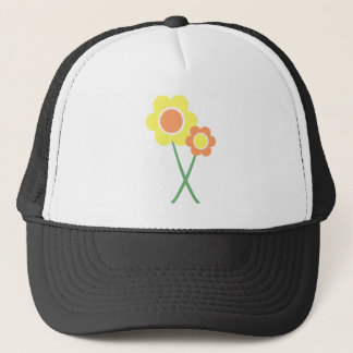 Yellow Daisy Flowers Trucker Hat