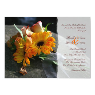 Yellow Daisy Flowers Wedding Invitation