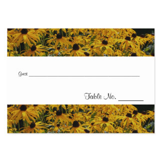 Yellow Daisy Flowers Wedding Table Place Cards Business Card