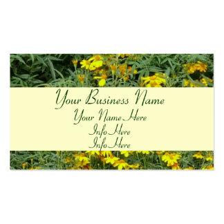 Yellow Daisy Garden Flowers Business Card