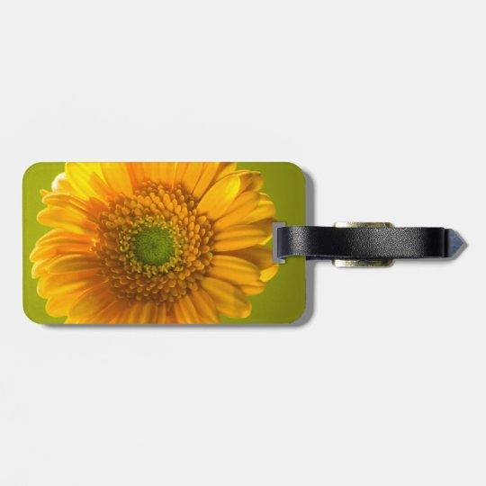 Yellow Daisy Gerbera Flower Bag Tag