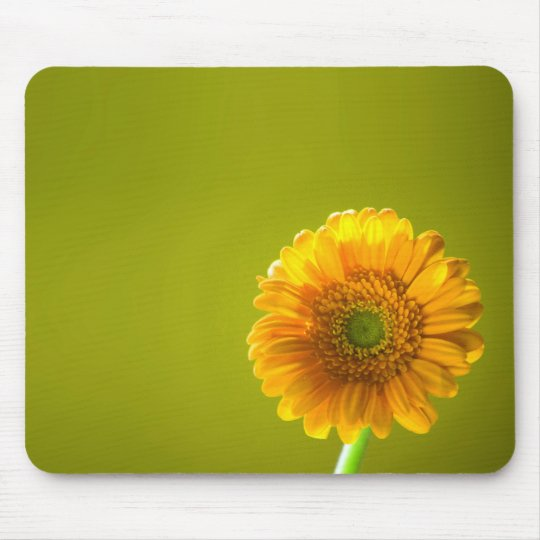 Yellow Daisy Gerbera Flower Mouse Pad