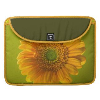 Yellow Daisy Gerbera Flower Sleeve For MacBooks