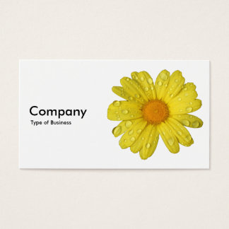 Yellow Daisy in the Rain Business Card