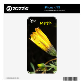 Yellow Daisy - iPhone 4/4S Skin Skin For iPhone 4