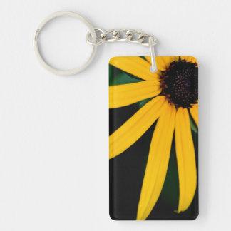 Yellow daisy keychain