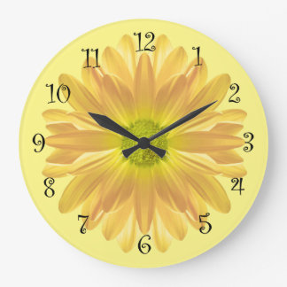 Yellow Daisy Kitchen Clock