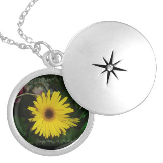 Yellow Daisy Locket Necklace
