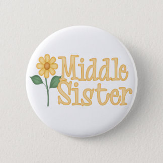 Yellow Daisy Middle Sister Pinback Button