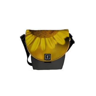Yellow Daisy - Mini Messenger Bag Outside Print