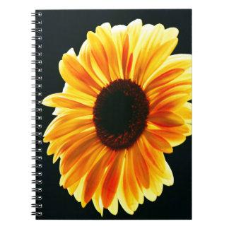 yellow daisy notebook