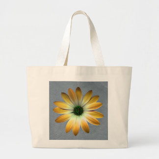 Yellow Daisy on Grey Leather Texture Bags