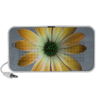 Yellow Daisy on Grey Leather Texture PC Speakers