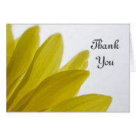Yellow Daisy Petals Wedding Bridesmaid Thank You Cards