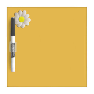 YELLOW DAISY SPRING TIME FLOWER DRY WRITTING BOARD