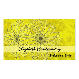 Yellow Daisy Stylist Appointment Business Card Business Card Templates