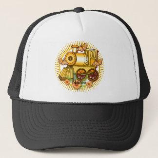 Yellow Daisy Train Trucker Hat