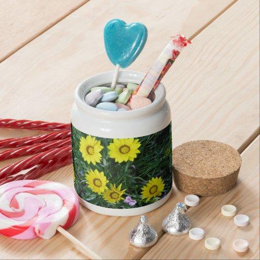 Yellow Daisy Treat Candy Jars