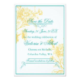 Yellow Daisy Wedding Invitation