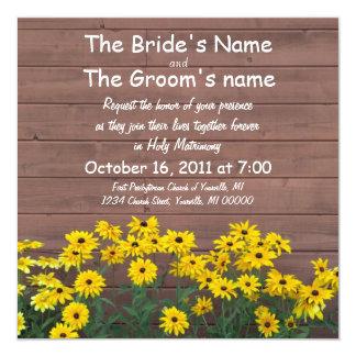 yellow daisy wedding invitations