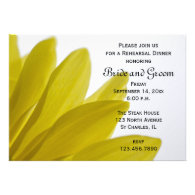 Yellow Daisy Wedding Rehearsal Dinner Invitation